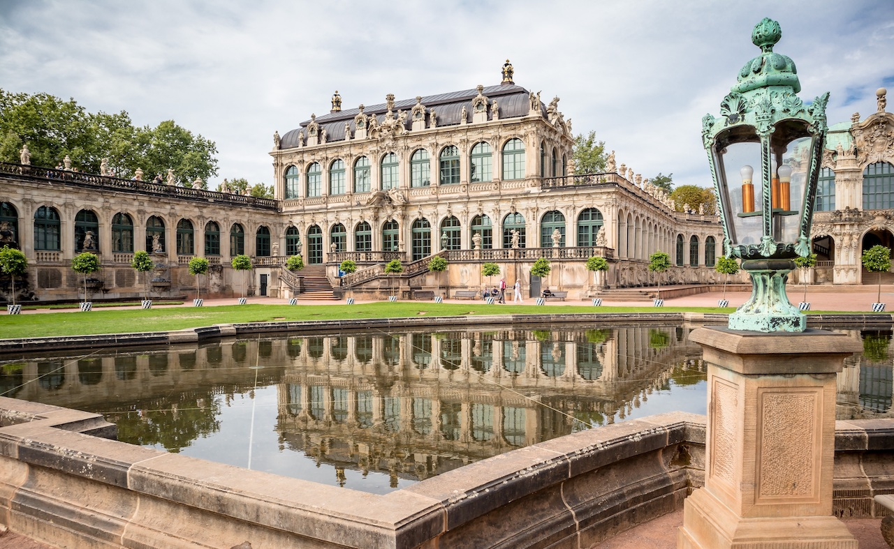 Zwinger Palace with garden in Dresden on a private tour