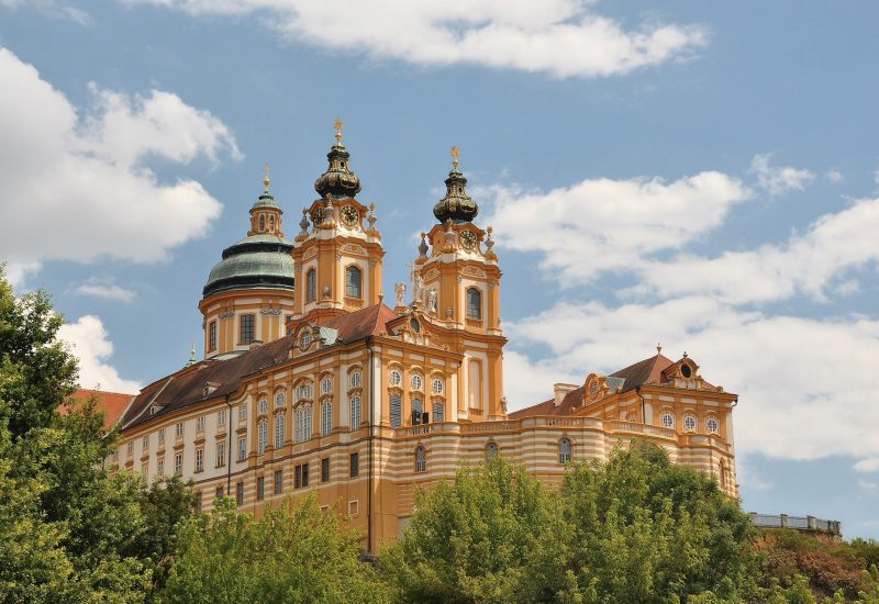 Melk abbey church with a view terrace