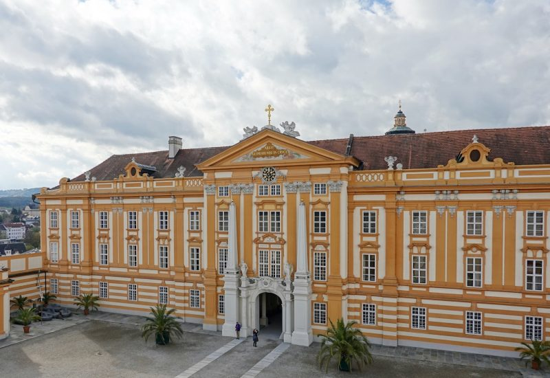 Melk Abbey palace with entrance gate