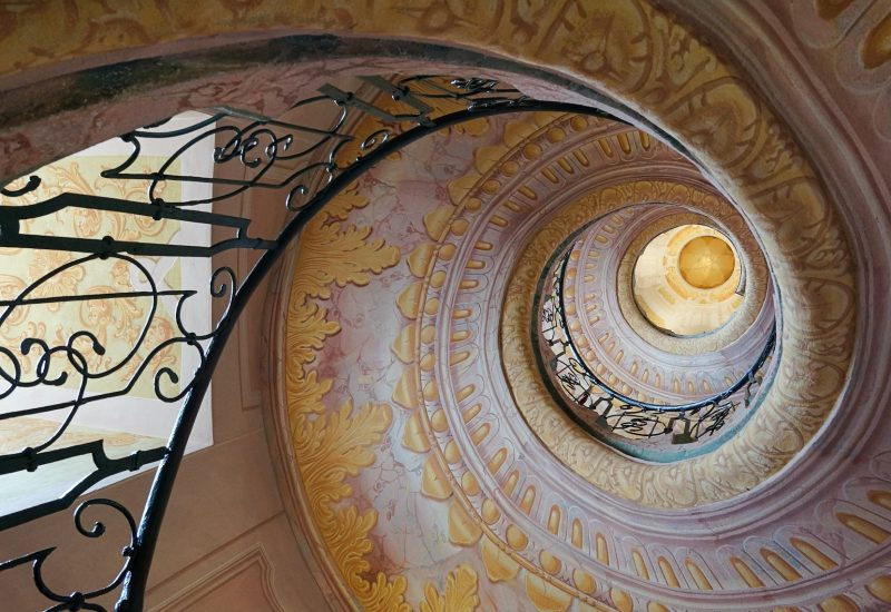 Melk Abbey decorated staircase in form of snail