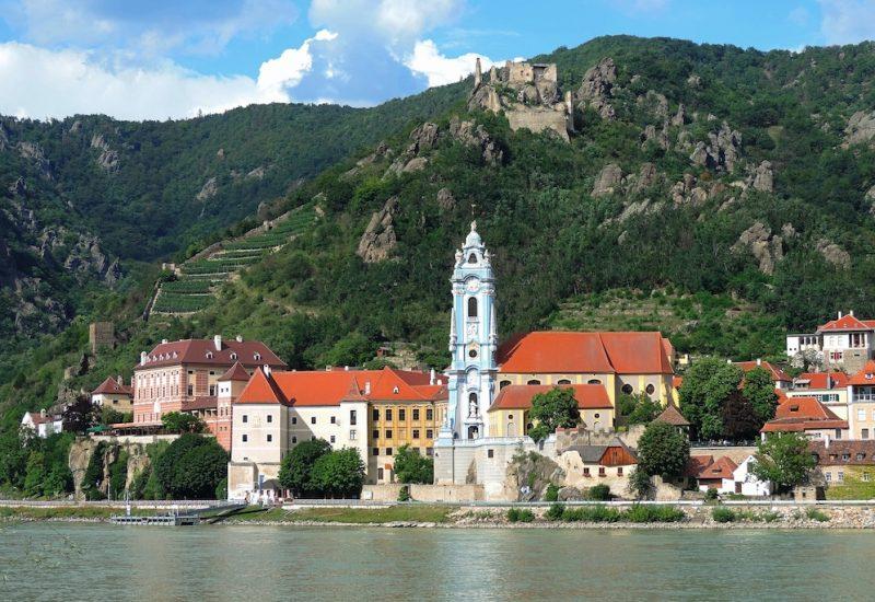 Durnstein town in the Wachau Valley on the Danube